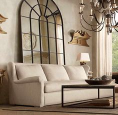 Belgian Roll Arm Upholstered Sofa by RH