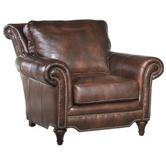 Belle Meade Greenwich Leather Lounge Chair