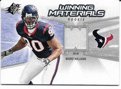 2006 Upper Deck Winning Materials Mario Williams Player worn Jersey Card. #Texans