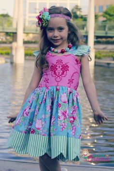 I spy Brenna on Sis Boom today! Love this new pattern by Create Kids Couture that I was able to test. Loving scallops!! Dress by Because of Brenna