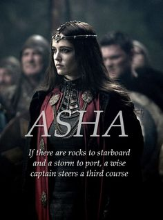 Asha Greyjoy, Queen of the Iron Islands #gameofthrones #asoiaf…
