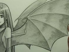 """How to Draw Demon Wings (""""Bat-Like"""") (+playlist) Drawing Techniques, Drawing Tips, Drawing Stuff, Easy Dragon Drawings, Learn To Draw Anime, Demon Wings, Android Wallpaper Anime, Wings Drawing, Anime Base"""