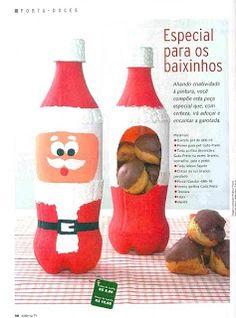 Manualidad de Navidad, reciclando para hacer un bonito regalo, lo puedes llenar con dulces, galletas, etc...