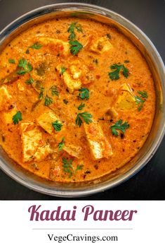 Popular Indian Curry made of Paneer cubes cooked in spicy Onion Tomato Masala and flavored with spices.