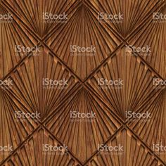 Carved pattern on wood background seamless texture, 3d illustration royalty-free stock photo