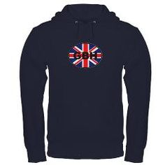 Funny GB sticker Hoodie (dark) #british #Britain #humour #funny #gbh