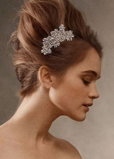 Vera Wang Crystal Hair Clip worn at wedding.  I have to find another reason to wear this!  :-)