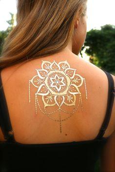 Mandala with Chandelier Flash Tattoos