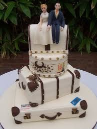 Image result for suitcase wedding cakes
