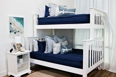 Styled for Bunk Beds – Beddy's Bedroom Bed, Girls Bedroom, Shared Boys Rooms, Zipper Bedding, Blue Bedding, Make Your Bed, Bunk Beds, Toddler Bed, Interior