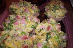 Meal In A Spud Recipe - Food.com Ham Recipes, Casserole Recipes, Baked Potato Broccoli Cheese, Super Cheap Meals, Money Saving Meals, How To Cook Potatoes, Gluten Free Baking, Learn To Cook, Budget Meals