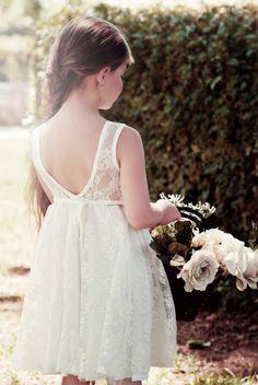 Elfenbein Hochzeit Blumenmädchen-Spitzenkleid von Bubale1 auf Etsy