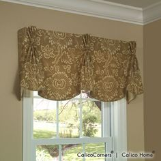 Queen Anne Valance in Tabriz/Cocoa from Calico Corners