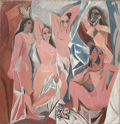Les Demoiselles d'Avignon 1907. (244 x 233 cm)