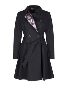 67418a3753583 Ted Baker Women s Maquila Double Breasted Flared Coat - Black