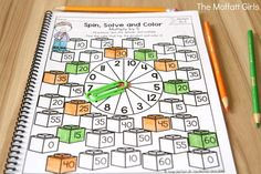 Why can't practicing multiplication facts be fun? Turn math into a game and have your students multiply with the Spin, Solve and Color NO PREP Packet!