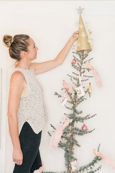 Kate Martindale's glitzy and charming tree topper for Christmas