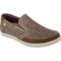 Men's Skechers Relaxed Fit Cardova Porten Slip On - Brown Casual ($63) ❤ liked on Polyvore featuring men's fashion, men's shoes, brown, casual, slip-on shoes, skechers mens shoes, mens woven leather slip-on shoes, mens slip on shoes, mens shoes and mens brown slip on shoes