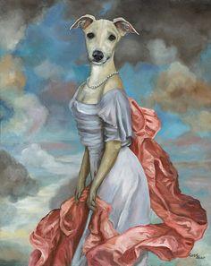 Greyhound with Shawl