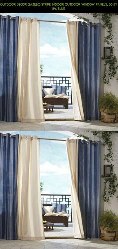Outdoor decor Gazebo Stripe Indoor Outdoor Window Panels, 50 by 84, Blue #products #technology #tech #shopping #outdoor #kit #decor #blue #parts #gadgets #drone #camera #plans #fpv #racing