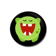 Button Kleenes Monster von Polarkind auf DaWanda.com
