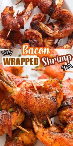 Shrimp Recipes Easy, Seafood Recipes, Mexican Food Recipes, Cooking Recipes, Easy Bacon Recipes, Keto Recipes, Bacon Dishes, Shrimp Dishes, Healthy Food Habits