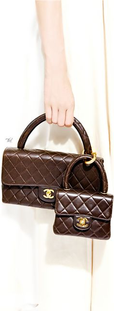 Vintage Chanel Brown Double Bag Set mk just need $72.99!!!!!!! http://www.bags-shoppings.com