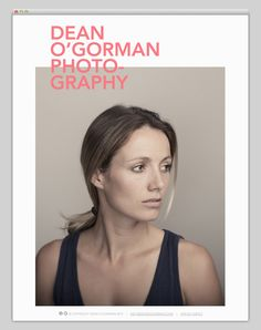 Dean O'Gorman Photography [Layout, editorial , typography, colour inspiration, simplistic, modernist]