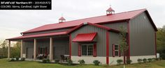 30' x 40' x 16' Cleary Suburban Building   Colors: Sierra, Cardinal, Light Stone