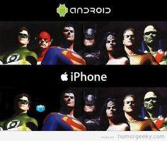Diferencia entre Android e Iphone