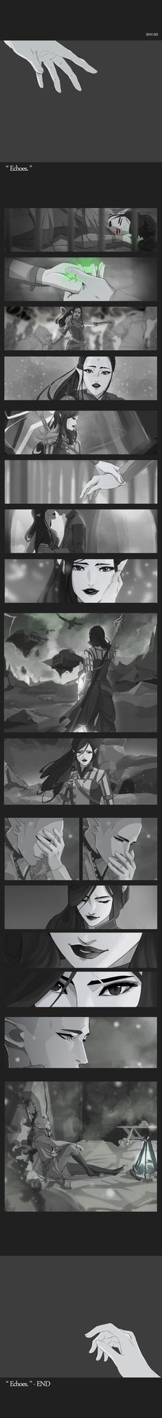 Dragon Age: Inquisition, Seth and Solas dancing at the Winter Palace Post on Tumblr:sing-sei.tumblr.com/post/10968…