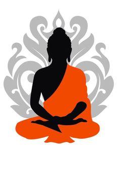 Buddha Artwork, Buddha Wall Art, Buddha Painting, Cool Art Drawings, Art Drawings Sketches, Budha Art, Buddha Drawing, Mandala Art Lesson, Psy Art