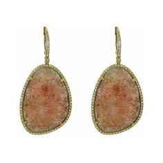 Dabakarov Cherry Quartz & Diamond Drop Earrings ($1,735) ❤ liked on Polyvore featuring jewelry, earrings, quartz jewelry, diamond earring jewelry, cherry earrings, diamond drop earrings and quartz drop earrings
