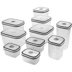 Conjunto de Potes Herméticos para Cozinha com Tampa 10 Peças - Electrolux 90,00