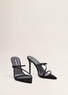 Pretty Shoes, Cute Shoes, Strap Sandals, Shoes Sandals, Mango Shoes, Party Mode, Mango France, Prom Shoes, Sock Shoes