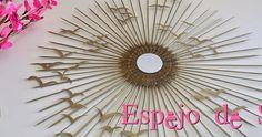 Blog sobre decoración y manualidades Diy Canvas Frame, Starburst Mirror, Diy Mirror, Resin Crafts, Projects To Try, Creative, House, Ideas, Mirror