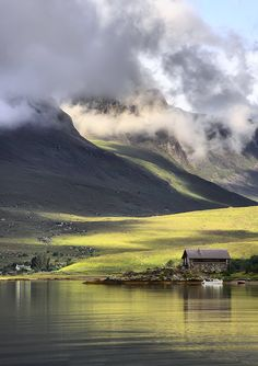 The boathouse at Achintrad. Scotland