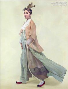 Hanbok Lynn Vogue Korea #ramiefabric