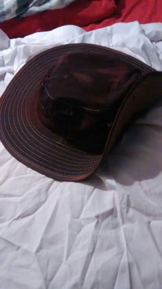 The Panama hat after being dyed and sewn up. It now is a replica of the one worn by Frederick Bishop (Battlefield 1)