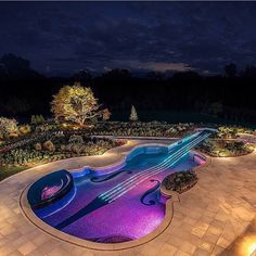 """Like if you think this violin shaped pool is amazing ✅ | Photo via @mega_mansions"""