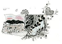 Part Zentangle, part sketch of an early morning hike in the mountains at Rancho la Puerta, Tecate, Mexico. There was some heartfelt conversation between me and another visitor-turned-friend as we ascended...