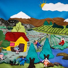 arpilleristas-melipilla Uni, Flag, Country, Google, Projects, Burlap, Log Projects, Rural Area, Flags