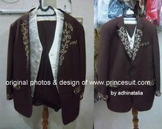 One of beaded custom made suit for pairing with Wedding Kebaya.