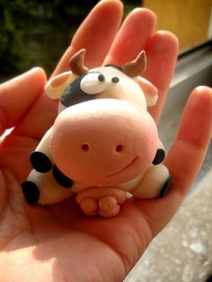 Cow  fimo sculpey polymer clay