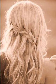 Braided wedding hairstyle.