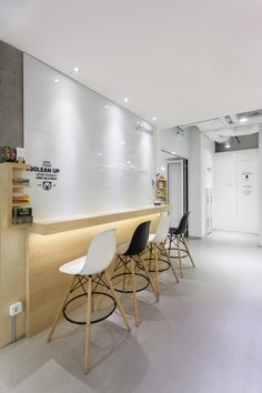 Play Tech Office - Very clean design with a nice twist on bar seating.
