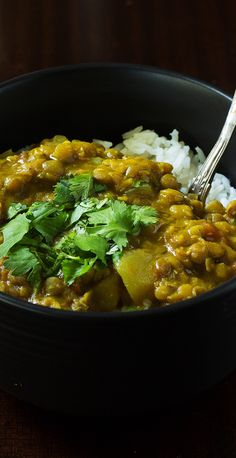 This crock-pot lentil curry is creamy with a little bit of spice. It hits the…