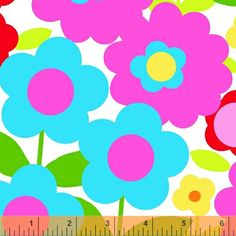 Windham Fabrics large bright flowers on white by bumbletees