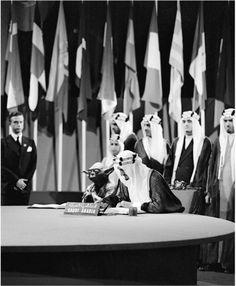"kawrage:  "" The late Saudi king Faisal. With Yoda.  """