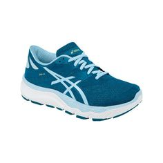 Women's ASICS 33-M Running Shoe - Mosaic Blue/Milk Blue/White Athletic ($140) ❤ liked on Polyvore